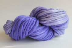 Lavender Color Chunky Hand  Spun Hand Dyed  Roving Wool Hand Knitting Yarn