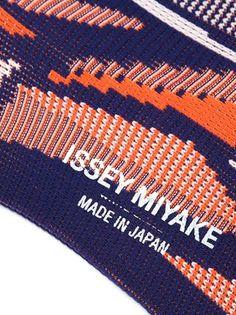 Issey Miyake intarsia knit socks