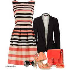 Coral Confidence, created by archimedes16 on Polyvore