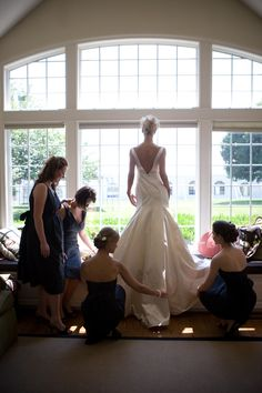wedding photo by J Garner Photography, bridesmaids, bride, getting ready