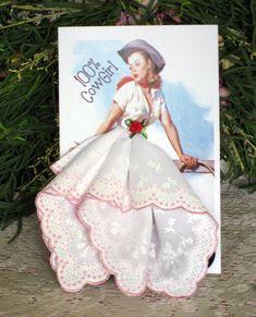 100% Cowgirl Keepsake Hanky Card