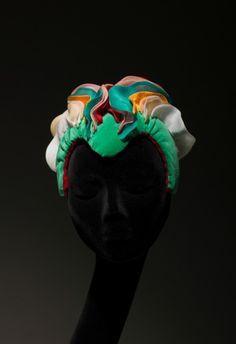 "Francesco Ballestrazzi Hats & Creation: ""Abstract Colors"" http://www.fashtags.it/francesco-ballestrazzi-hats/"