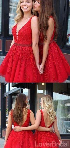 V Neck Bright Red Short Cheap Homecoming Dresses Online, CM826 – LoverBridal Burgundy Homecoming Dresses, Cheap Homecoming Dresses, Bridesmaid Dresses Online, Cheap Wedding Dress, Little Girl Dresses, Girls Dresses, Cheap Dresses Online, Royal Dresses, Red Shorts