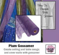 in appropriate colors. Gossamer Fabric is a gauze like material that comes in wide rolls to cover walls, drape ceilings and create stunning backdrops. Wedding Decoration Supplies, Prom Decor, Wedding Table Decorations, Wedding Supplies, Baby Shower Decorations, Beach Decorations, Fabric Ceiling, Ceiling Draping, Massage Room