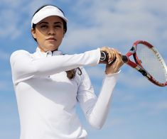 Our sun protector half zip top will keep you protected with our UPF fabric all summer long! It comes in different colors and sizes. Great for sports like tennis, yoga, swim, and golf. Tennis Whites, Tennis Skort, Racquet Sports, Outdoor Workouts, Golf Outfit, Sun Protection, Active Wear, Swimming, Yoga