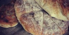 Eating pita bread in Indian crusine