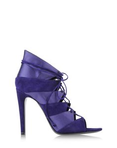 Charline De Luca: Purple Satin & Suede Bootie