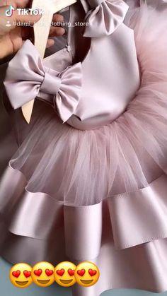 Baby Girl Dresses Diy, Baby Girl Birthday Dress, Princess Dresses For Kids, Baby Tulle Dress, Baby Girl Pink Dress, Little Girl Gowns, Tutu Skirt Kids, 1st Birthday Dresses, Girls Dresses Sewing