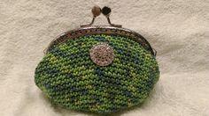 Heklet pung. Crochet coin purse.
