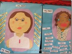 All About the MOM'S!!! -- math lesson to create a portrait of their mom