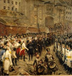Edouard Detaille out of the garrison of Huningue, August 1815 Oil on canvas Paris, refreshments Senate (deposit of the Musée d'Orsay) Photo: RMN Military Honors, Military Art, Military History, Edouard Detaille, Austrian Empire, Seven Years' War, Jean Baptiste, French Army, French Revolution