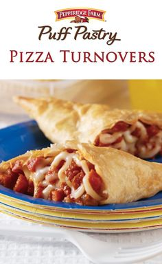 Puff Pastry Pizza Turnovers Recipe. Nothing says comfort quite like melted cheese. Make a simple dinner out of these Puff Pastry Pizza Turnovers. A flaky puff pastry crust is filled with your favorite pizza toppings like pepperoni, mozzarella and tomato sauce.