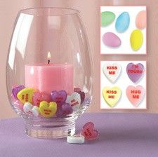 Hurricane Candle Valentines Decoration