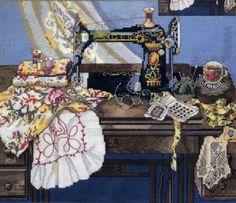 Вышивка Мамина швейная машина (Candamar)