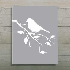 Bird Silhouette Art Print Tree Branch Art by UrbanStyleDesigns, $15.00