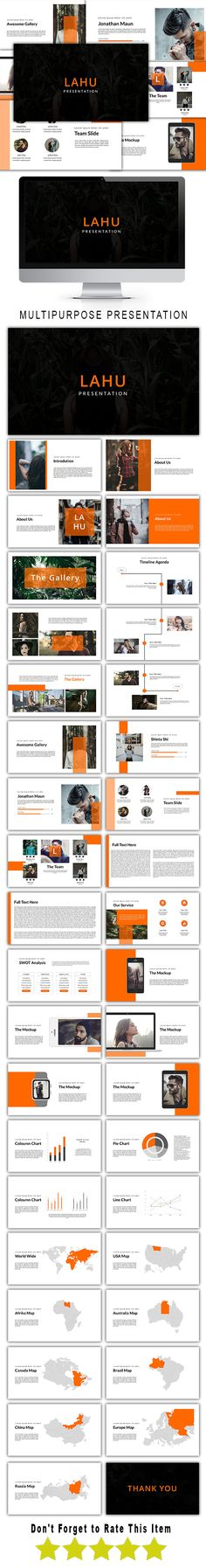 Lahu Multipurpose Powerpoint Template MAIN FILE:  Images Placeholder Drag And Drop image Theme Black and White Option, Easy to change colors, Fully editable text, photos, music & other elements 39 Unique Custom Slides 39 Total Slides Vector Icons, elements & PNG included in Files Clean Theme Version PPT & PPTX Files All Elements included Super Custom Animated effects