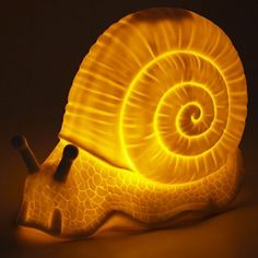 Of The Wild Porcelain Snail Lamp