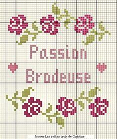 rose - point de croix - passion brodeuse - cross stitch - Blog : http://broderiemimie44.canalblog.com/