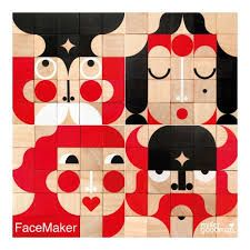 Mini Facemaker by Miller Goodman Cubes, Pet Toys, Kids Toys, Wooden Wagon, Unique Faces, Natural Toys, Making Faces, Waldorf Toys, Wooden Blocks