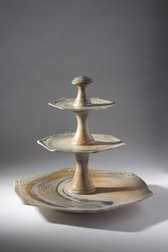 Ceramics by Mandy Parslow at Studiopottery.co.uk - 3 Tiered Cake Stand, produced in 2007.