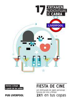 Cartel Fiesta de Cine - Pub Liverpool