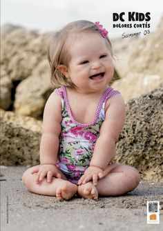 Valentina Guerrero has Down Syndrome and she is the first baby to be casts as a model for Dolores Cortes 2013 Kids Swimsuit line. The model industry should be taking notes! No more ugly skinny woman - feature real beauties like Valentina!