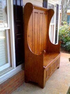 Allegany Paneled Settle Bench