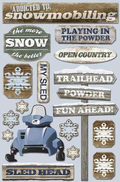 Karen Foster Cardstock Stickers Snowmobile