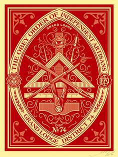 Poster by Shepard Fairey Shepard Fairy, Shepard Fairey Obey, Obey Art, Propaganda Art, Communist Propaganda, Art Ancien, Tattoo Fonts, Street Artists, Graphic Design Inspiration