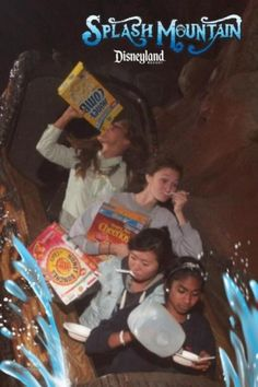 I always love a good ballsy theme park ride picture but I just love how creatively staged this one was. Well done, ladies! Bravo!
