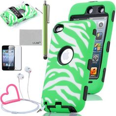 Pandamimi ULAK Green 3 in 1 Zebra Defender impact Hard Rubber Case for iPod Touch 4 4G 4TH Gen + Stylwire Pink Heart Stereo Headphone +Stylus by ULAK, http://www.amazon.com/dp/B00BYM5SCS/ref=cm_sw_r_pi_dp_E3efsb1TH6F3Q