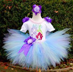 A personal favorite from my Etsy shop https://www.etsy.com/listing/256663055/princess-ariel-birthday-pixie-tutu-set