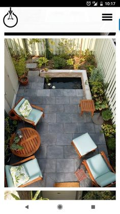 Lovely garden furniture and very well used small garden