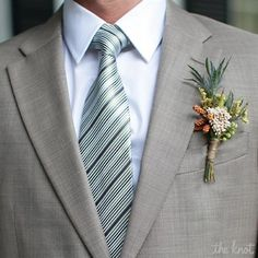 Rustic Boutonniere great with a gray suit Boutonnieres, Mens Boutonniere, Rustic Boutonniere, Floral Wedding, Wedding Bouquets, Rustic Wedding, Wedding Flowers, Wedding Arches, Wedding Flower Inspiration