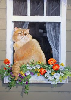 Becca Joy Campbell   (1988-2014)  —   Persian  Cat  (800×1138)