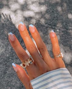 Best Acrylic Nails, Acrylic Nail Designs, Rounded Acrylic Nails, Funky Nail Designs, Shellac Designs, French Acrylic Nails, Simple Acrylic Nails, Square Acrylic Nails, Simple Nail Designs