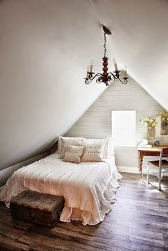 The Farm House | Decorar tu casa es facilisimo.com @kimhardesty if we buy tiffs house lol and I take the attic bedroom