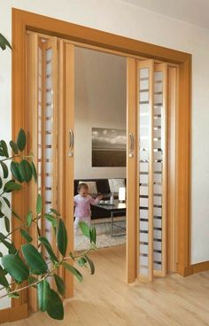 45 best interior sliding doors design ideas to inspire you page 39 – JANDAJOSS. Partition Door, Room Divider Doors, Sliding Room Dividers, Living Room Partition Design, Room Partition Designs, Sliding Door Design, Wooden Door Design, Sliding Doors, Interior Door