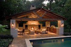 Pool house contemporary patio - interiors-designed.com: