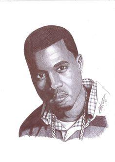 Kanye West pen portrait by Craig-Stannard on deviantART