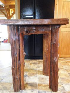 Driftwood Kitchen Island Table by FarmToTableFurniture on Etsy Driftwood Furniture, Rustic Furniture, Kitchen Island Table, Kitchen Islands, Driftwood Kitchen, Recycled Kitchen, Wood Shed, Rustic Style, Entryway Tables