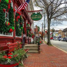 The streets are decked in full holiday style in downtown historic Occoquan, VA. Love this quaint small town, just a quick 30 minute drive from DC!
