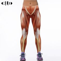 Cheap running tights, Buy Quality running tights women directly from China womens tights running Suppliers: Europe New Womens sport pants digital printing slim human muscle elastic athletic pants Sports trousers running tights women
