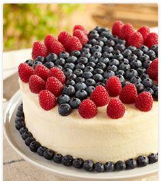 Superstar Blueberry & Raspberry Lemon Cake #DriscollsSweepstakes