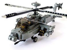 AH-64D Apache Longbow Lego Ww2, Lego Army, Avion Lego, Lego Plane, Lego Ship, Lego Craft, Lego Mecha, Lego Construction, Lego Toys
