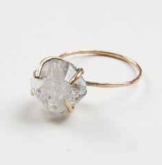 Herkimer Diamond GF Ring by Friedasophie www.friedasophie.etsy.com