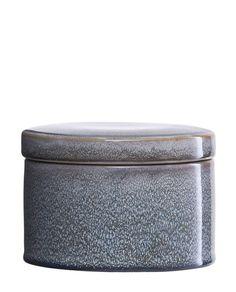House Doctor Aufbewahrungsgefäß mit Deckel Croz grau, mittelgroß