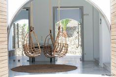 San Giorgio Mykonos by Magazine San Giorgio Mykonos, Mykonos Hotels, Hanging Chair, Interior Design, Mirror, Greece, Magazine, Detail, Furniture