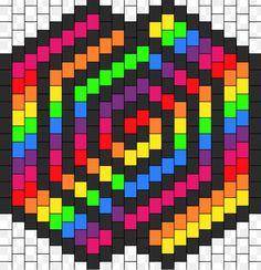 Kandi Patterns for Kandi Cuffs - Simple Pony Bead Patterns Kandi Mask Patterns, Pony Bead Patterns, Perler Patterns, Loom Patterns, Beading Patterns, Cross Stitch Patterns, Graph Paper Art, Modele Pixel Art, Pixel Art