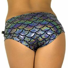 Super cute Cleo Hurricane mermaid scale hot pants. Silver but has rainbow flash to it. Never worn except to try on over underwear. Size small. Great for pole dance or pole fitness!